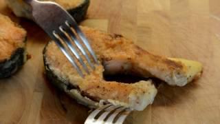 Сочная Жареная Красная Рыба на Чугунной Сковороде Lodge