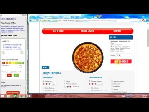 Domino's Pizza Website Usability Test