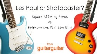 Buying Your First Guitar - Les Paul or Stratocaster?