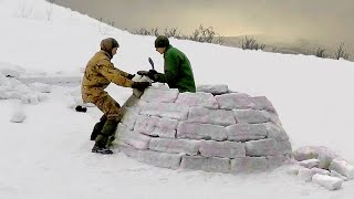 How hard is it to build an Igloo? - A Bushcraft Mountain Adventure with Overnighter