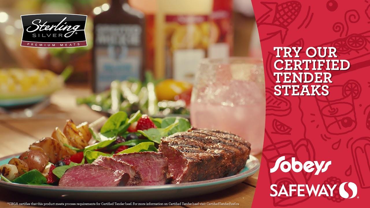 Safeway Sterling Silver Certified Tender Striploin Steak Youtube