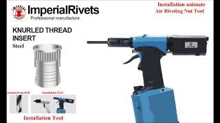 Knurled Thread Insert ( Nut Insert ) installation - Imperial rivet & fasteners