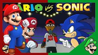 Best Beatbox Video Ever! | Mario Reacts To Mario Vs Sonic - Cartoon Beatbox Battles