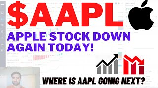 $AAPL APPLE STOCK DOWN TODAY, WHERE TO NEXT?? Apple Stock Analysis | Live Wellthy Stocks