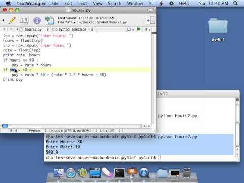 Python for Informatics: Exercise 3 1