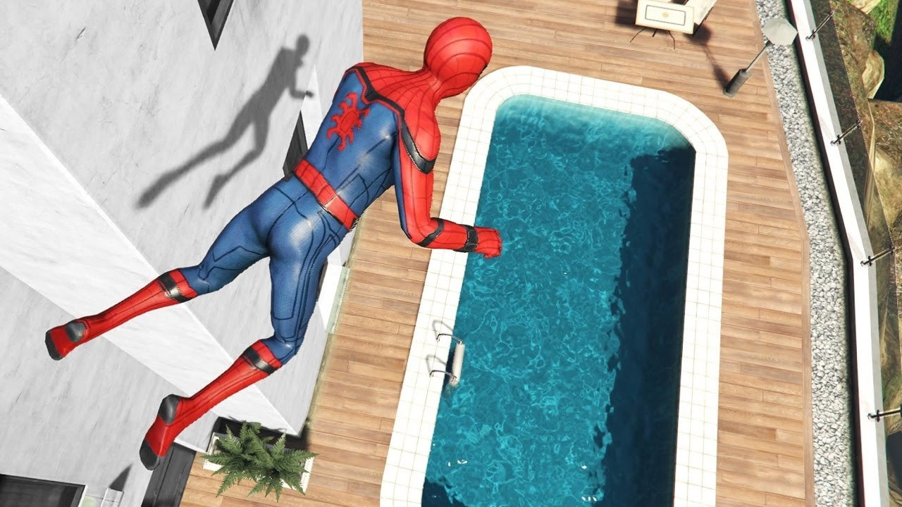 GTA 5 Epic Ragdolls | SPIDERMAN Jumps/Fails ep.95 (Funny Moments)
