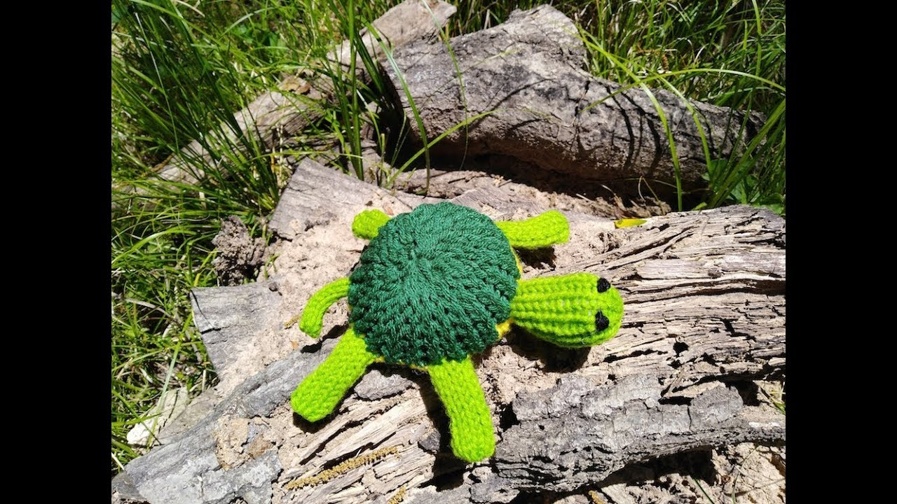 Loom Knit Small Turtle Pattern - YouTube