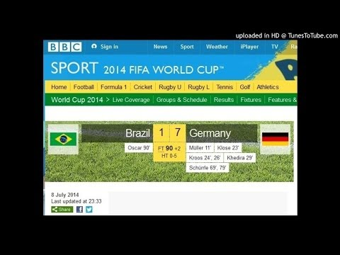 Brazil 1 vs Germany 7 - Audio Goals Radio BBC Sports - FIFA World Cup 2014