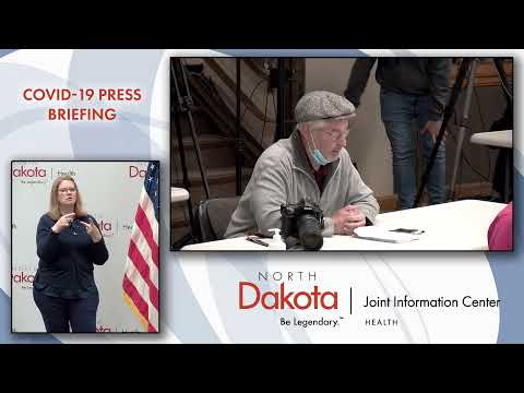October 23rd, 2020 COVID-19 Press Conference - ND Joint Information Center