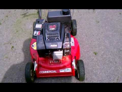 6 Hp Commercial Toro Lawn Mower Youtube