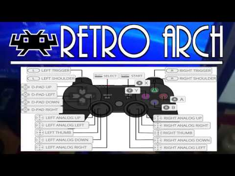 HOW TO MAP PS4 & PS3 & PS2 CONTROLLER / CONTROLLER MAPPING on RetroArch