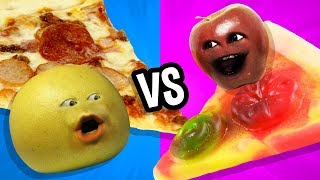 Annoying Orange - Gummy Food vs Real Food Challenge