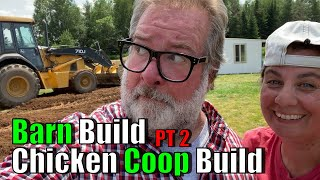 Barn and Chicken Coop Build PT2 | A Big Family Homestead VLOG