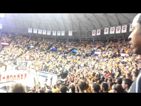 wichita state fans at midnight game with an amazing support at koch arena .Go #shockers