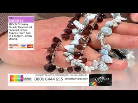 Labradorite and Rhodolite Garnet for Jewellery Making - Jewellery Maker Late Show 13/05/14