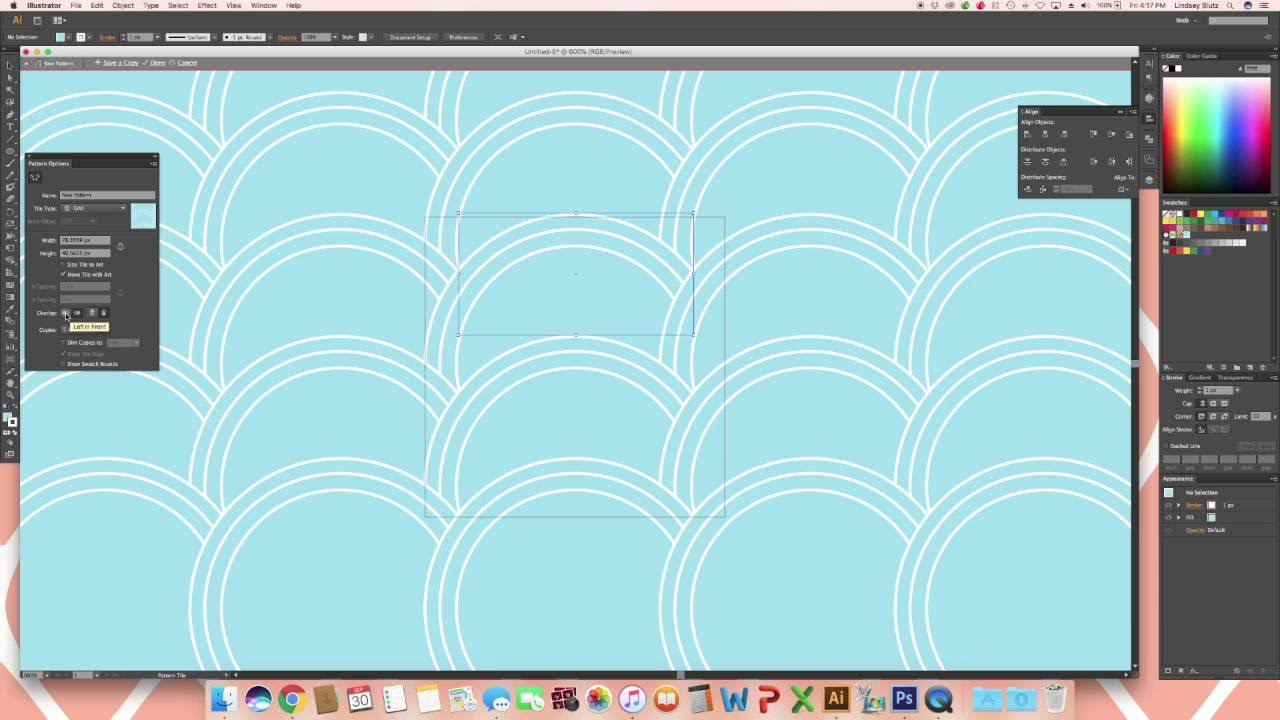 Fish Scale Pattern In Illustrator