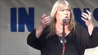 Gina Pietsch singt: Hetze gegen Russland – Nicht in unserem Namen! Kundgebung Berlin 22.6.18