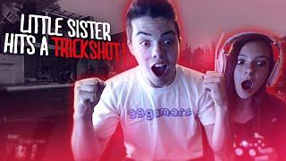 LITTLE SISTER HITS A TRICKSHOT!!