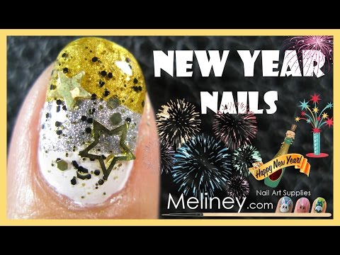 New years eve gradient party nails meliney how to easy beginners new years eve gradient party nails meliney how to easy beginners glitter nail art youtube prinsesfo Gallery