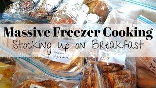 Huge freezer cooking session I 45 breakfast meal freezer cooking I Speed Cooking