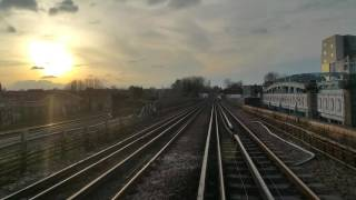 Ballast Train passing Jubilee train approaching Kilburn North Bound. 27th February 2016.