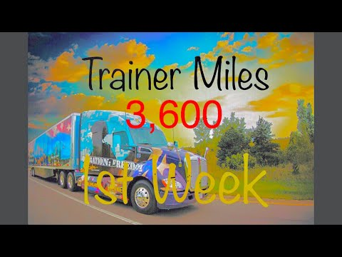 Werner Enterprises 3,600 miles First week as a Trainer!!!!