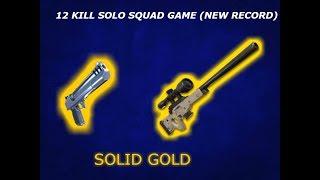 12 KILL SOLO SQUAD SNIPER AND DEAGLE CHALLANGE SOLID GOLD/Fortnite Battle royale