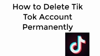How to delete TIK TOK account permanently in just one minute. 《Musically Update》.