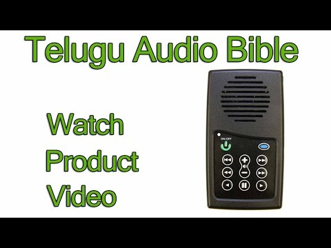 Telugu Audio Bible Player (Product Review)