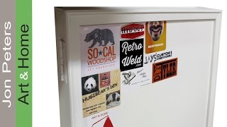 Trimming out the Fan Cabinet Sticker Door
