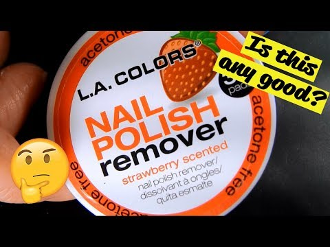 L.A. Colors Nail Polish Remover Pads Review!
