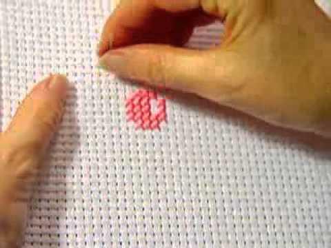 Как делать вышивку крестом видео
