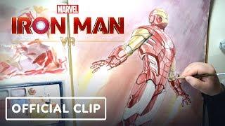 Marvel's Iron Man VR - Impulse Armor Timelapse Drawing