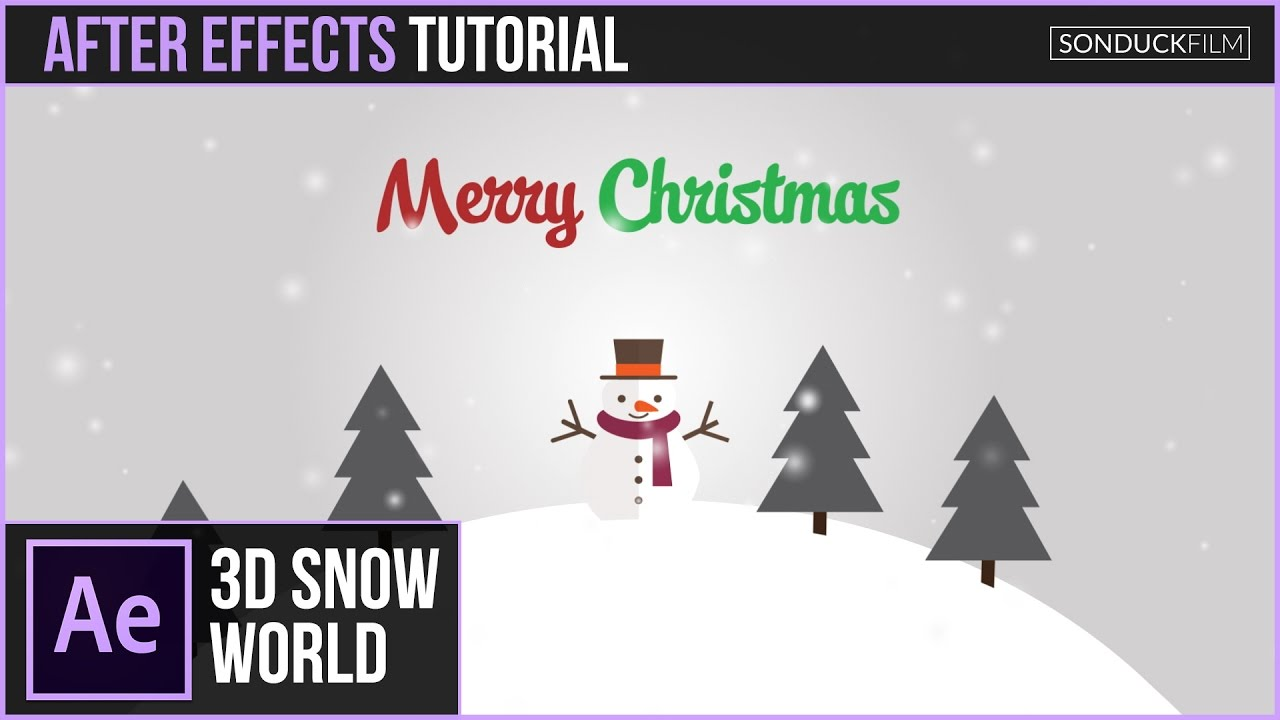 After Effects Tutorial: 3D SNOW WORLD Christmas Animation - YouTube