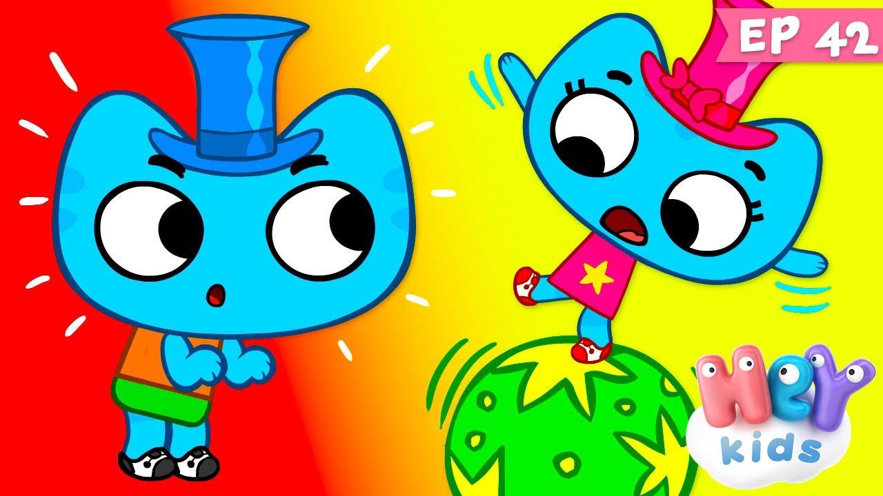 Kit și Keit: Dansul pisicuțelor   Desene animate educative cu dansuri   HeyKids