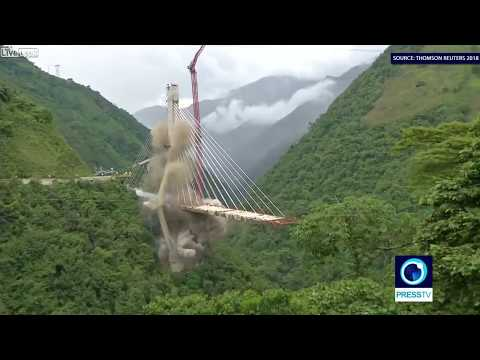 200 KG of explosives to destroy bridge in Colombia - Nature 4K