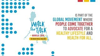 On 15 september 2019, the world health organization (who) philippines staged its first #walkthetalkmanila as part of global for all challenge. wal...