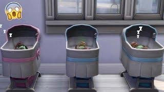 Des triplés ?! Sims 4 Famille Psychopathe