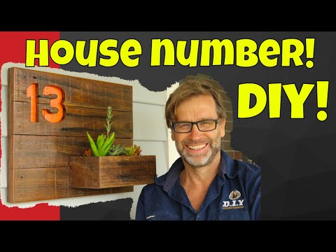 House Number Sign. Awesome Scrap Wood Project!