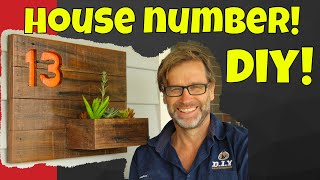 House Number Sign. DIY 30 Minute Challenge!