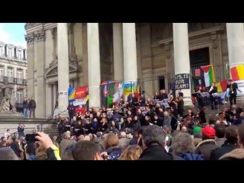 The Brussels Philharmonic Plays 'Ode to Joy' at Place de la Bourse