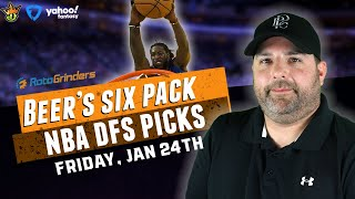 DRAFTKINGS NBA DFS PICKS FOR 1-24-20 I THE DAILY FANTASY 6 PACK