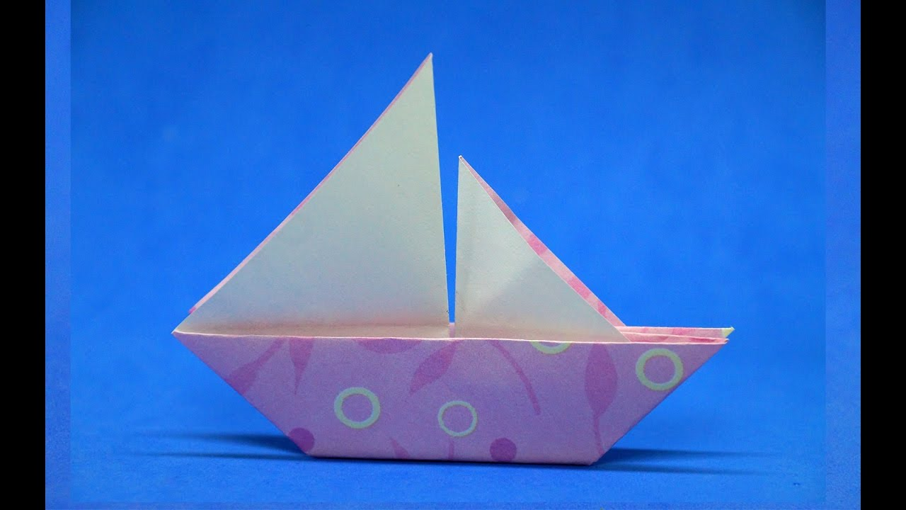 Making a simple boat out of paper with children 91