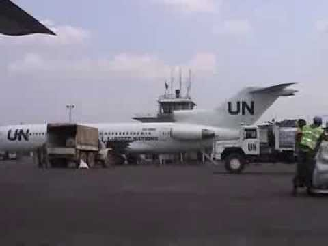 FK02 at Kindu airport, DR of Congo (Swedish UN troop)