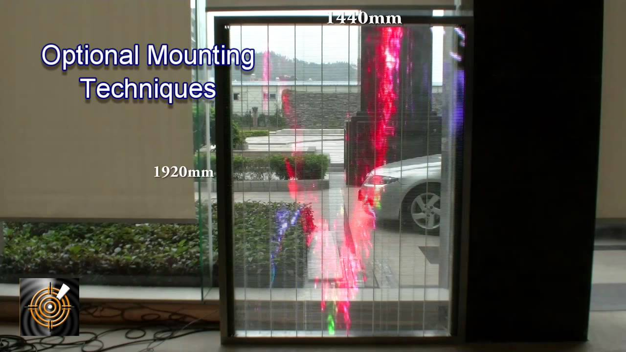 Ice Led Glass Screen P10mm Demo Panel Youtube