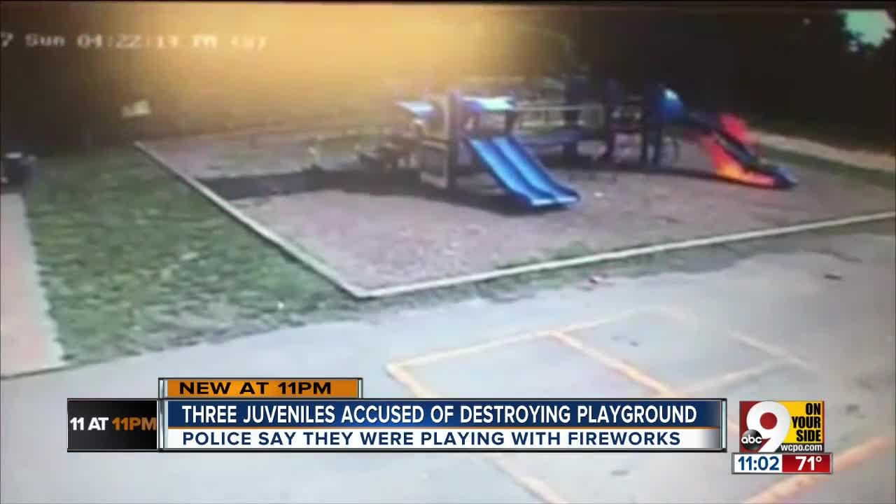 PD: Bellevue teens face charges in school playground fire