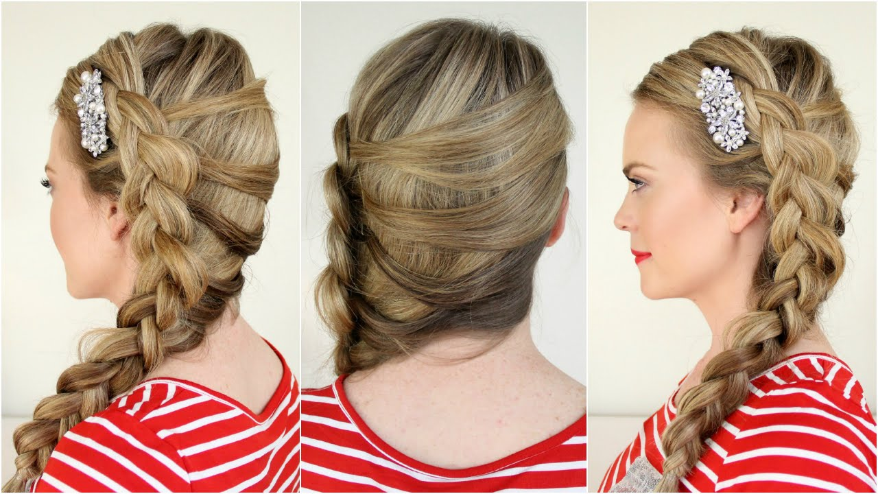 61 Braided Wedding Hairstyles: Mermaid Side Dutch Braid