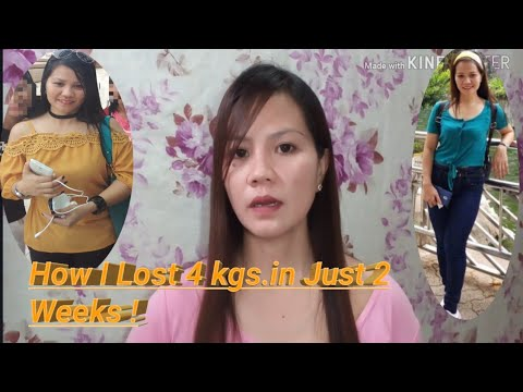 How I lost 4 kg in just 2 weeks (Calorie Counting diet. paano?)