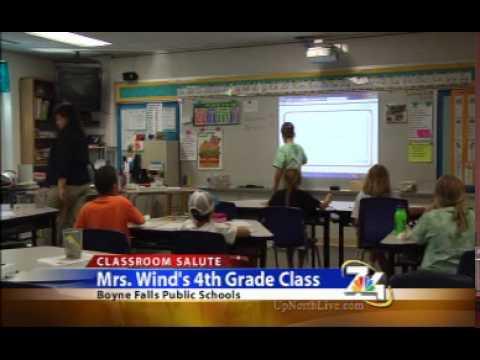 7&4 Classroom Salute- Mrs. Wind's 4th Grade at Boyne Falls Public Schools