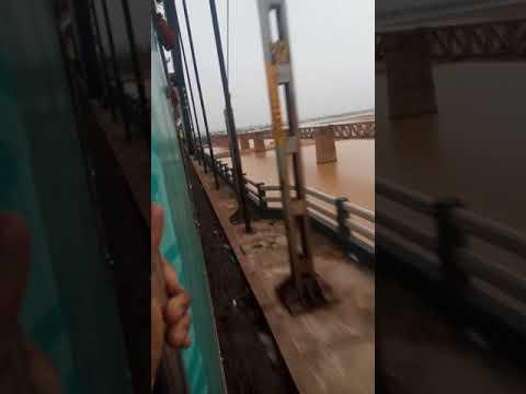 22833/Bhubaneswar - Krishnarajapuram HumSafar Express passing godavari bridge